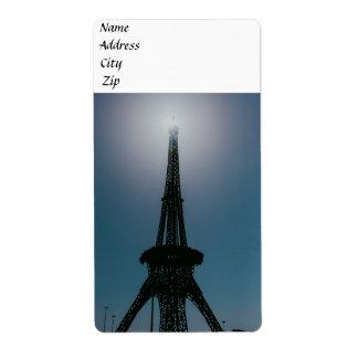 Eiffel tower, Dubai Miracle Garden Label