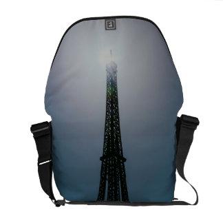 Eiffel tower, Dubai Miracle Garden Messenger Bag