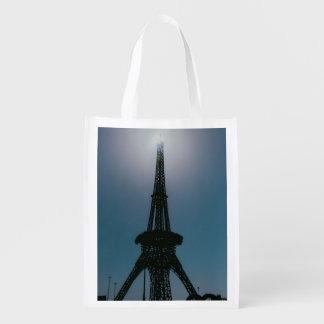 Eiffel tower, Dubai Miracle Garden Reusable Grocery Bags