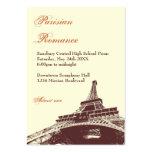 Eiffel Tower ecru prom bid custom admission ticket Large Business Cards (Pack Of 100)