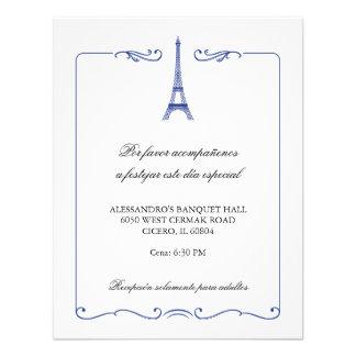 Eiffel Tower Elegant Reception Card Personalized Announcements