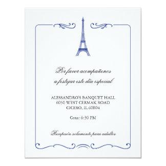 Eiffel Tower Elegant Reception Card