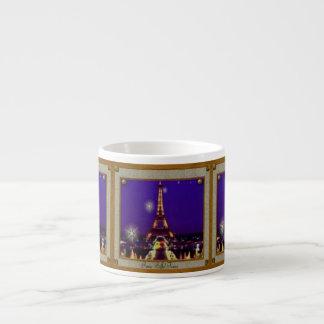 Eiffel Tower Espresso Mug 6 Oz Ceramic Espresso Cup
