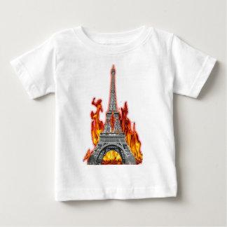 Eiffel Tower fire Baby T-Shirt