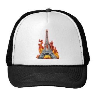 Eiffel Tower fire Trucker Hats