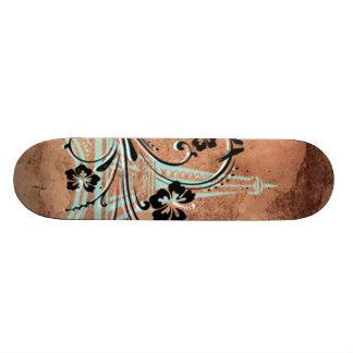 Eiffel Tower Floral Skateboard