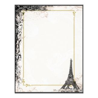 Eiffel Tower Flyer Vintage Style