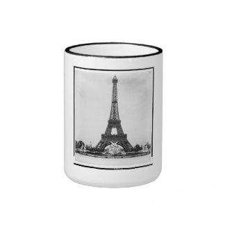 Eiffel Tower & Fountain, Paris Exposition, 1889 Ringer Coffee Mug