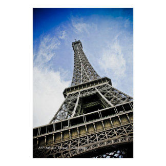 Eiffel Tower Framed Picture Poster