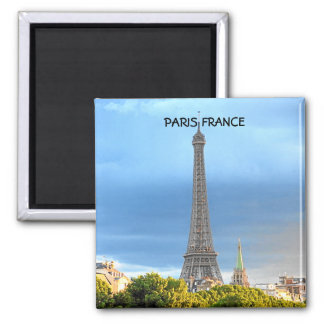 EIFFEL TOWER,  FRANCE 2 INCH SQUARE MAGNET