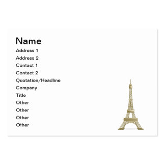 Eiffel tower, France clipart Large Business Cards (Pack Of 100)