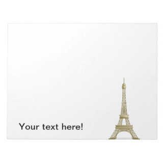Eiffel tower, France clipart Note Pads