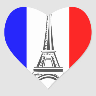 Eiffel Tower France Heart Sticker
