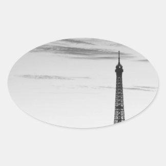Eiffel Tower, France Oval Sticker