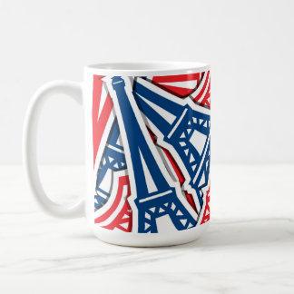 Eiffel Tower, France Pattern Coffee Mug