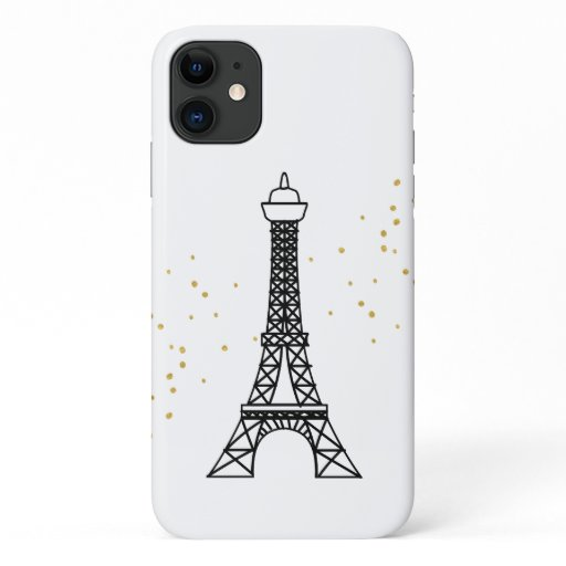 Eiffel Tower France Romance Gold Sparkle | iPhone 11 Case