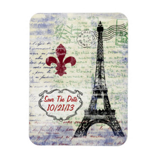 Eiffel Tower France Save The Date Magnet