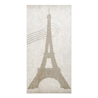 Eiffel Tower France Travel Design Photo Greeting Card