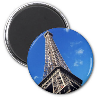 Eiffel Tower France Travel Photography 2 Inch Round Magnet