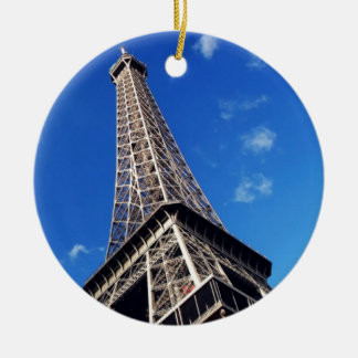 Eiffel Tower France Travel Photography Ceramic Ornament