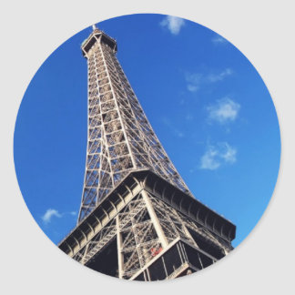 Eiffel Tower France Travel Photography Classic Round Sticker