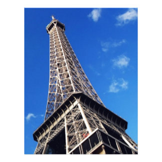Eiffel Tower France Travel Photography Letterhead