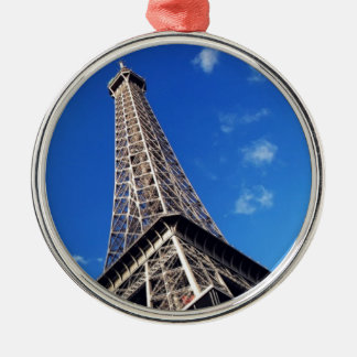 Eiffel Tower France Travel Photography Metal Ornament