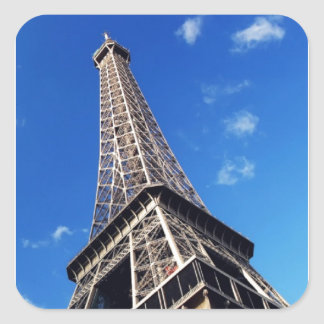 Eiffel Tower France Travel Photography Square Sticker