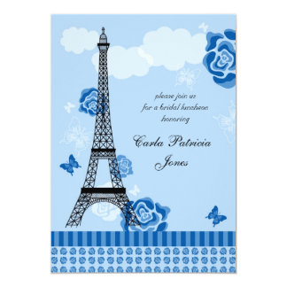 Eiffel Tower French Bridal Shower Invitation