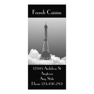 Eiffel Tower French Cuisine Marketing Bookmark Custom Rack Card