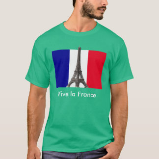 Eiffel Tower French Flag Vive la France T-Shirt