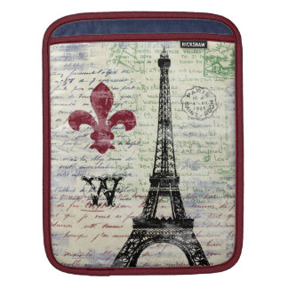 Eiffel Tower French iPad Sleeve