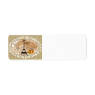 Eiffel Tower French Postcards Label
