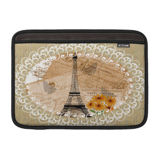 Eiffel Tower French Postcards MacBook Air Sleeve