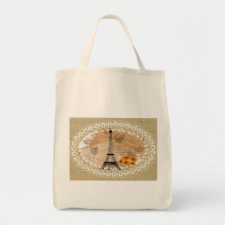 Eiffel Tower French Postcards Tote Bag