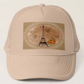 Eiffel Tower French Postcards Trucker Hat