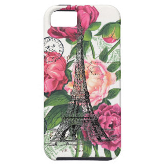 Eiffel Tower French Roses Case iPhone 5 Case