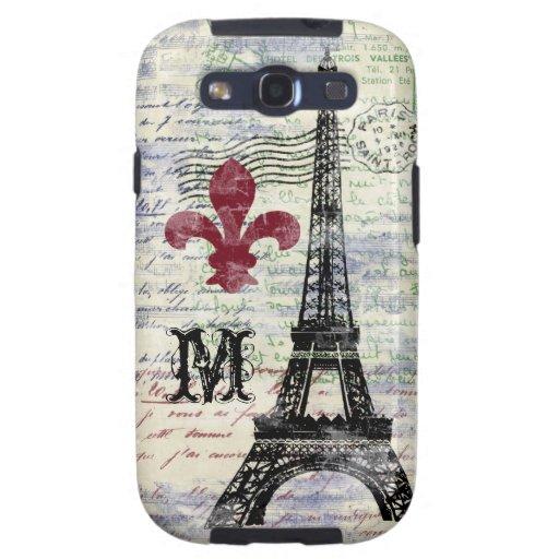 Eiffel Tower French Samsung Galaxy Case Samsung Galaxy SIII Covers