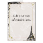 Eiffel Tower French Stationery Greeting Cards