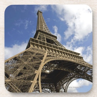 Eiffel tower from low angle drink coaster
