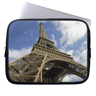 Eiffel tower from low angle laptop sleeve