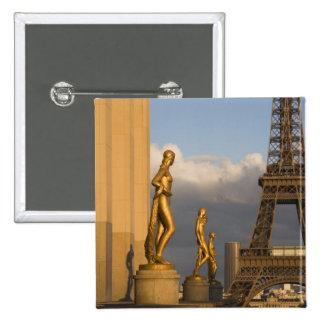 Eiffel Tower from the Palais de Chaillot, Paris, Button