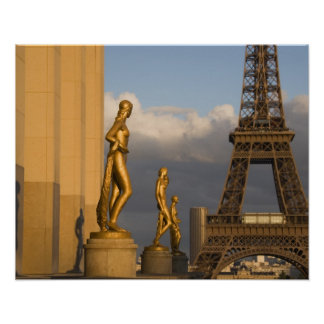 Eiffel Tower from the Palais de Chaillot, Paris, Poster