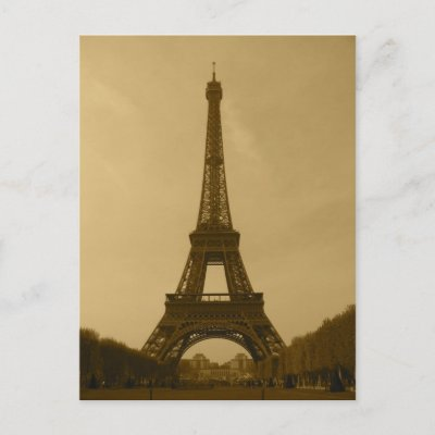 Free Eiffel Tower Picture Sepia on Eiffel Tower In Paris  France 2007