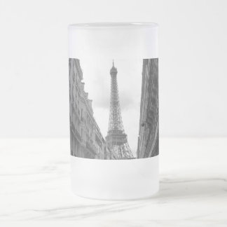 Eiffel Tower Frosted Glass Beer Mug