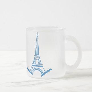 Eiffel Tower Frosted Glass Coffee Mug
