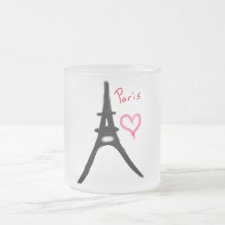 Eiffel Tower Frosted Mug