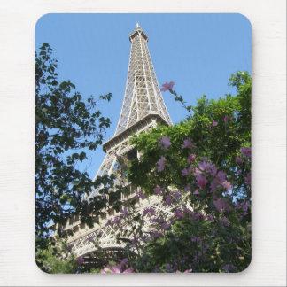 Eiffel Tower Garden Mouse Pad