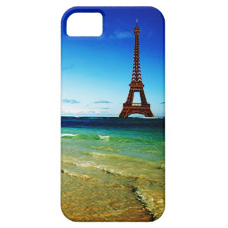 Eiffel Tower Goes to the Beach Phone Case iPhone