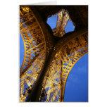 Eiffel Tower, Golden Light @ Night Greeting Card